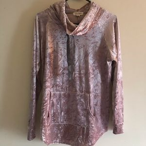 Crushed Pink Velvet Sweatshirt